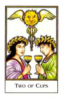 Two of Hearts Tarot Card - The New Palladini Tarot Deck