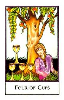 Four of Cups Tarot Card - The New Palladini Tarot Deck