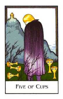 Five of Bowls Tarot Card - The New Palladini Tarot Deck
