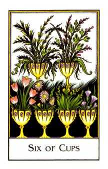 Six of Bowls Tarot Card - The New Palladini Tarot Deck