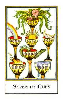 Seven of Bowls Tarot Card - The New Palladini Tarot Deck