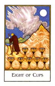 Eight of Water Tarot Card - The New Palladini Tarot Deck