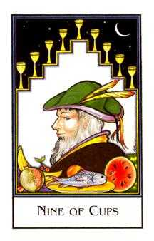Nine of Bowls Tarot Card - The New Palladini Tarot Deck