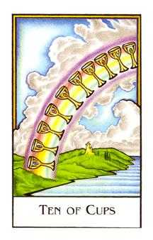 Ten of Hearts Tarot Card - The New Palladini Tarot Deck