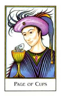 Page of Hearts Tarot Card - The New Palladini Tarot Deck