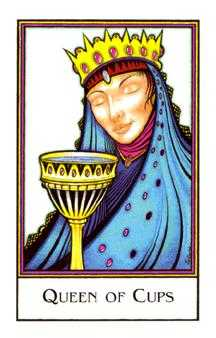 Queen of Bowls Tarot Card - The New Palladini Tarot Deck