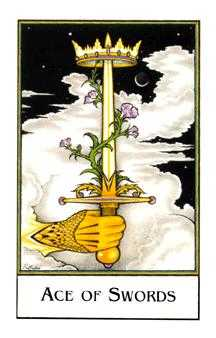 Ace of Wind Tarot Card - The New Palladini Tarot Deck