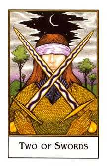 Two of Swords Tarot Card - The New Palladini Tarot Deck