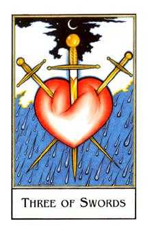 Three of Swords Tarot Card - The New Palladini Tarot Deck