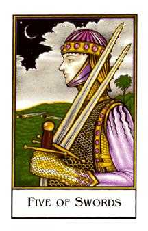 Five of Wind Tarot Card - The New Palladini Tarot Deck