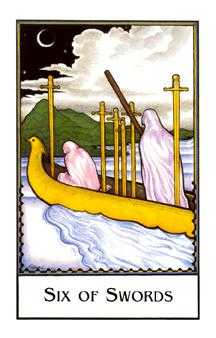 Six of Arrows Tarot Card - The New Palladini Tarot Deck