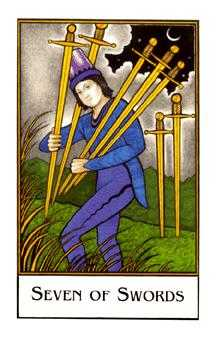 Seven of Bats Tarot Card - The New Palladini Tarot Deck