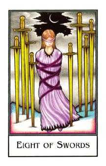 Eight of Swords Tarot Card - The New Palladini Tarot Deck