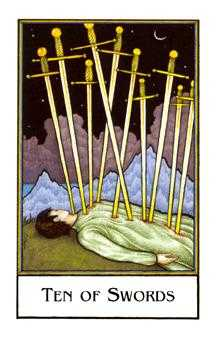 Ten of Arrows Tarot Card - The New Palladini Tarot Deck