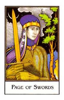 Page of Spades Tarot Card - The New Palladini Tarot Deck