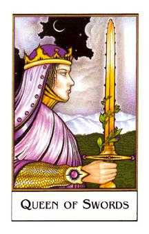 Priestess of Swords Tarot Card - The New Palladini Tarot Deck