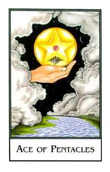 Ace of Pentacles Tarot Card - The New Palladini Tarot Deck
