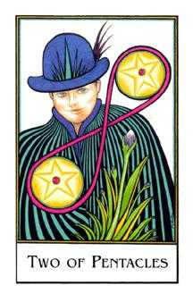 Two of Pentacles Tarot Card - The New Palladini Tarot Deck