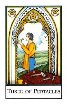 Three of Pentacles Tarot Card - The New Palladini Tarot Deck