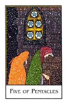 Five of Coins Tarot Card - The New Palladini Tarot Deck