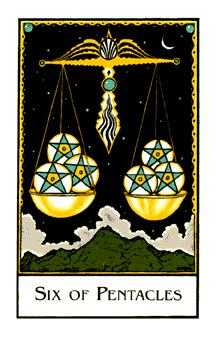 Six of Coins Tarot Card - The New Palladini Tarot Deck