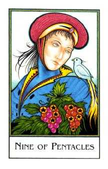 Nine of Coins Tarot Card - The New Palladini Tarot Deck