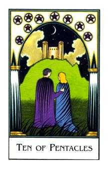 Ten of Coins Tarot Card - The New Palladini Tarot Deck