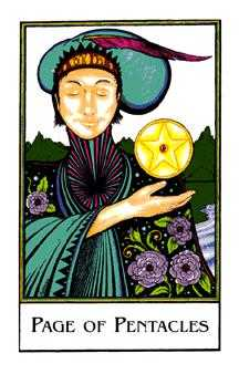 Valet of Coins Tarot Card - The New Palladini Tarot Deck