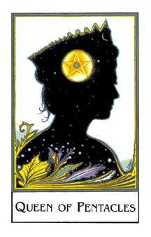 Queen of Coins Tarot Card - The New Palladini Tarot Deck
