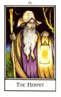 The Hermit Tarot Card - The New Palladini Tarot Deck