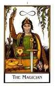 The Magician Tarot card in The New Palladini Tarot deck