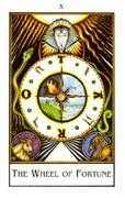 Wheel of Fortune Tarot card in The New Palladini Tarot Tarot deck