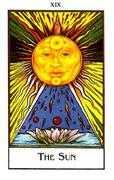 The Sun Tarot card in The New Palladini Tarot Tarot deck