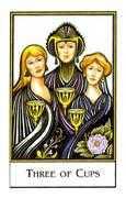 Three of Cups Tarot card in The New Palladini Tarot Tarot deck
