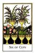 Six of Cups Tarot card in The New Palladini Tarot Tarot deck
