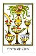 Seven of Cups Tarot card in The New Palladini Tarot Tarot deck