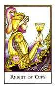 Knight of Cups Tarot card in The New Palladini Tarot Tarot deck
