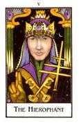 The Hierophant Tarot card in The New Palladini Tarot deck