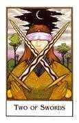 Two of Swords Tarot card in The New Palladini Tarot Tarot deck