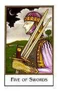 Five of Swords Tarot card in The New Palladini Tarot Tarot deck