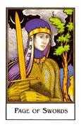 Page of Swords Tarot card in The New Palladini Tarot Tarot deck