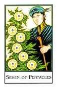 Seven of Pentacles Tarot card in The New Palladini Tarot Tarot deck