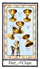 old-english - Five of Cups