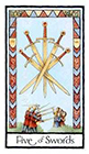 old-english - Five of Swords