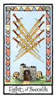 old-english - Eight of Swords