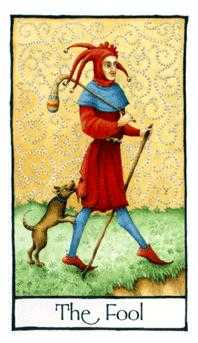 The Fool Tarot Card - Old English Tarot Deck
