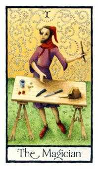 The Magician Tarot Card - Old English Tarot Deck