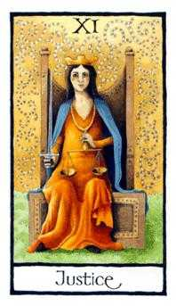 Justice Tarot Card - Old English Tarot Deck
