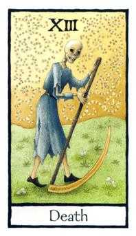 Death Tarot Card - Old English Tarot Deck