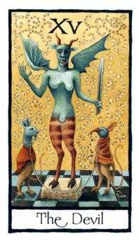 The Devil Tarot Card - Old English Tarot Deck